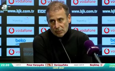 Abdullah Avcı: Zor olacağını biliyordum ama bugün mağlubiyet beklemiyordum
