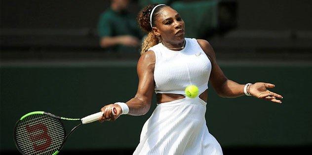 Serena Williams Wimbledon'da finalde