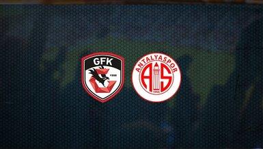 Gaziantep FK - Antalyaspor maçı ne zaman, saat kaçta ve hangi kanalda canlı yayınlanacak? | Süper Lig