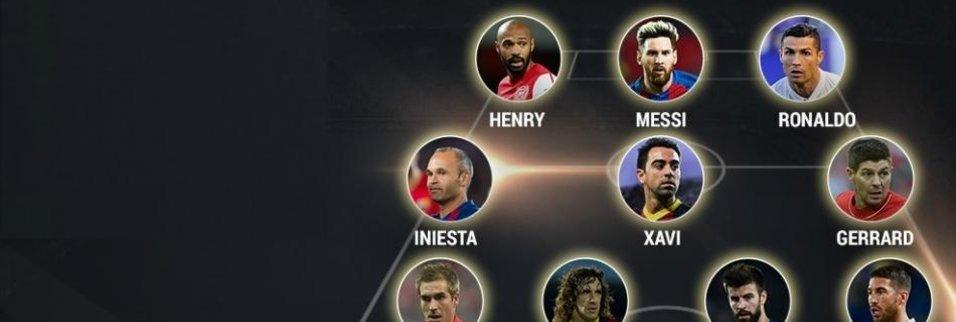 UEFA, 21. Yüzyılın en iyi 11'ini belirledi!
