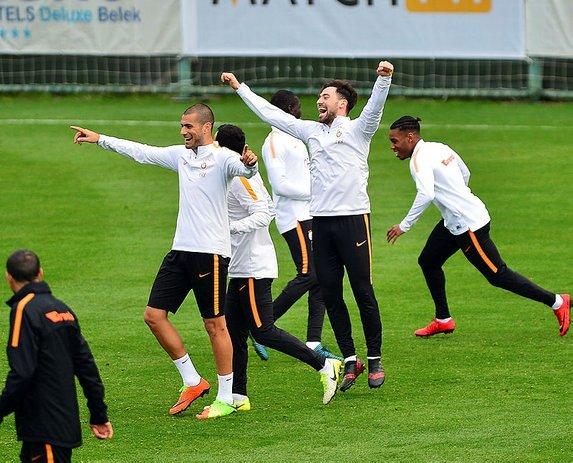 Galatasaray'ın sabah antremanından görüntüler