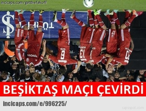 Beşiktaş-Fenerbahçe caps'leri