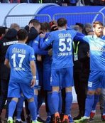 Özel maçta kazanan Erzurumspor