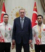 Başkan Erdoğan milli cimnastikçileri kabul etti
