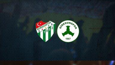 Bursaspor – Giresunspor maçı ne zaman? Saat kaçta? Hangi kanalda canlı yayınlanacak? Şifresiz mi?