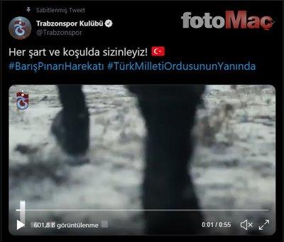 Süper Lig ekipleri Mehmetçiğin yanında