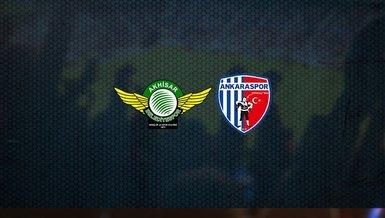 Akhisarspor - Ankaraspor maçı ne zaman, saat kaçta ve hangi kanalda canlı yayınlanacak?   TFF 1. Lig