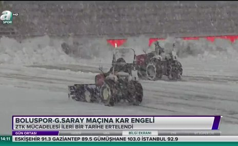 Boluspor - Galatasaray maçına kar engeli
