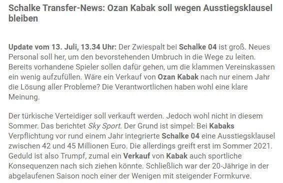 Schalke 04'ün Ozan Kabak planı belli oldu! Dev rakama... - Almanya Bundesliga -