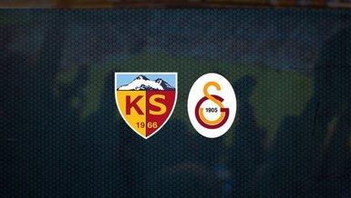 Son dakika GS haberleri | Kayserispor Galatasaray - 11'ler belli oldu