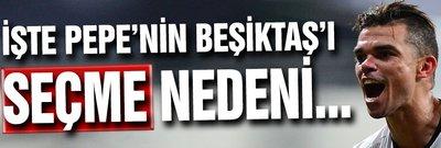 İşte Pepe'nin Beşiktaş'ı seçme sebebi...
