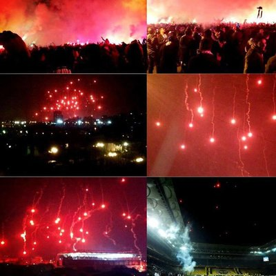 Seyircisiz maçta Kadıköy ışıl ışıl