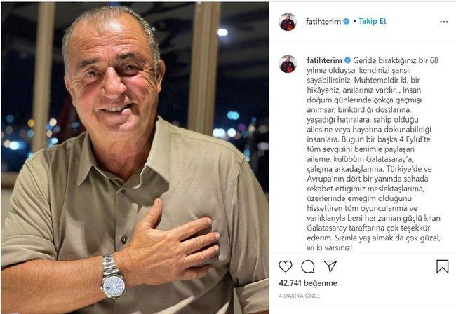 Galatasaray Teknik Direktörü Fatih Terim'den duygu yüklü açıklama! Sizinle yaş... 12