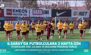 Galatasaray'da futbolculara iki hafta izin
