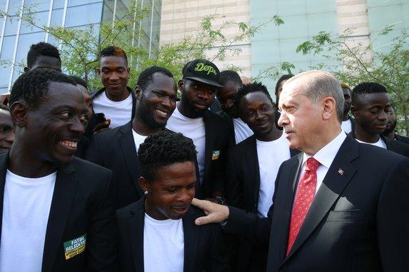 Cumhurbaşkanı Erdoğan'ın ilgi odağı oldular!