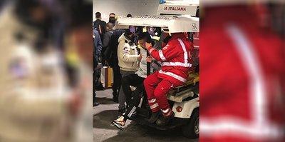 Merih Demiral, Roma maçı sonrası stattan koltuk değnekleriyle ayrıldı