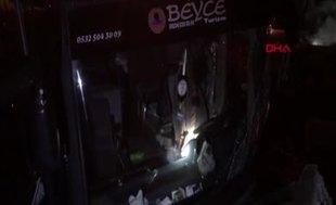 Bursaspor taraftarını taşıyan otobüs kaza yaptı: 19 yaralı