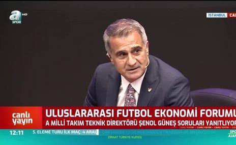 Şenol Güneş: Bizim hedefimiz 2022 Dünya Kupası