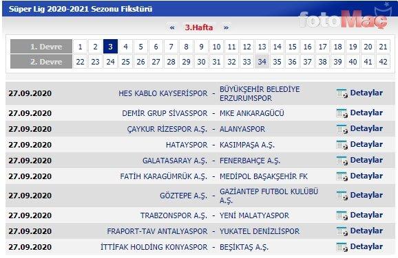 Süper Lig'de 2020/2021 sezonu fikstürü belli oldu! İşte derbi haftaları