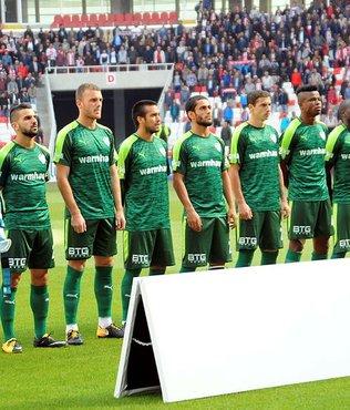 Bursasporlu futbolcular 1 puandan memnun