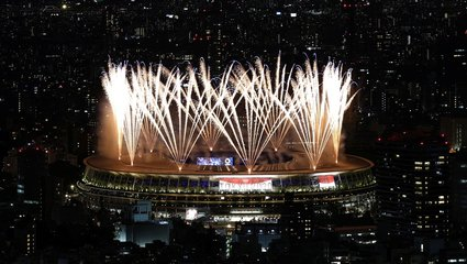 Olimpiyatlar için görkemli açılış! İşte dikkat çeken kareler...