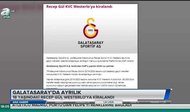 Galatasaray'da ayrılık: Recep Gül