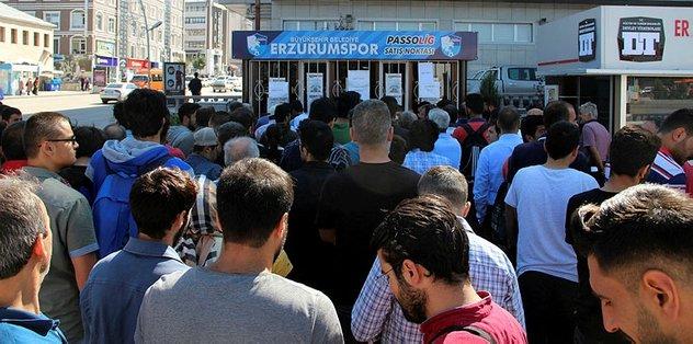 Erzurum'da Passolig izdihamı