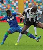 Sassuolo son maçta Udinese'ye boyun eğdi