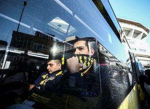 Fenerbahçeli taraftarlar Vodafone Parka ulaştı