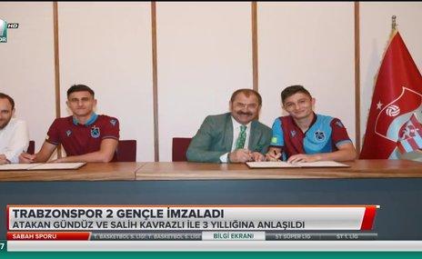 Trabzonspor 2 gençle imzaladı