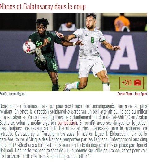 Galatasaray'a Bellaili transferinde rakip çıktı! Nimes onu izliyor - Futbol -