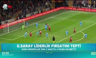 Galatasaray liderlik fırsatını tepti