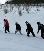 Judo Milli Takımı'nın karda zorlu antrenmanı