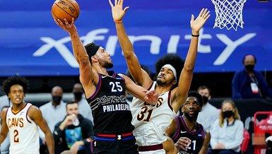 Cedi Osman'lı Cleveland Cavaliers Furkan Korkmaz'lı lider Philadelphia 76ers'ı yendi