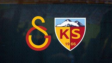 Galatasaray - Kayserispor maçı ne zaman saat kaçta ve hangi kanalda? Canlı