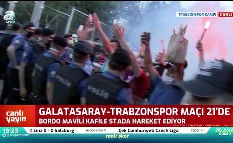 Trabzonspor kafilesi stada hareket etti   İZLEYİN