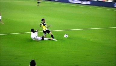 Fenerbahçe Giresunspor karşısında penaltı bekledi! İşte Diego Rossi'nin yerde kaldığı pozisyon