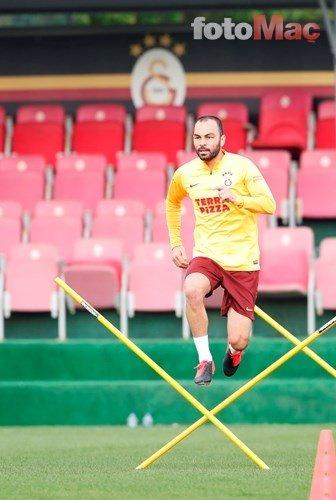 İşte Galatasaray'ın antrenmanından kareler!
