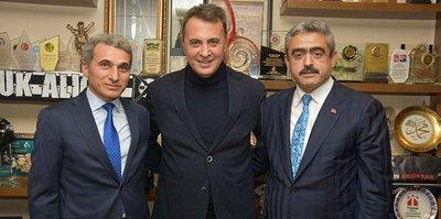 Fikret Orman, Başkan Alıcık'ı ziyaret etti