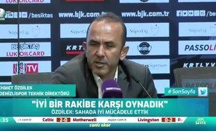 Mehmet Özdilek: Bugün iyi futbol ortaya koyduk