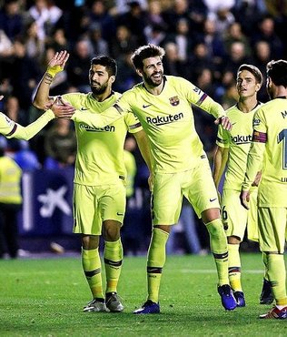 Barcelona Levante'yi deplasmanda farklı yendi