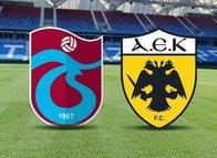 Trabzonspor-AEK karşılaşması muhtemel 11'leri!