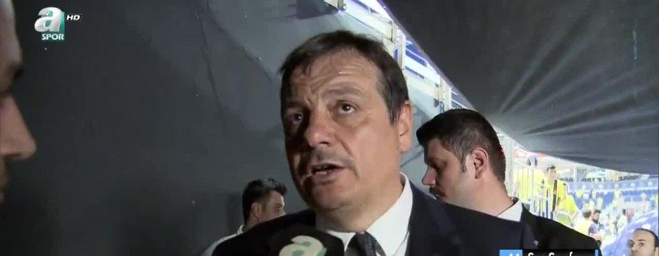 """Ergin Ataman: """"Kendi oyunumuzu oynayıp maçı kazandık"""""""