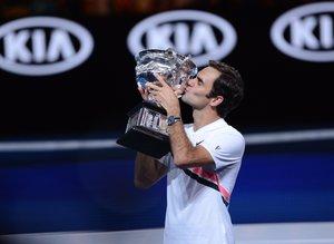 Avustralya Açıkta şampiyon Roger Federer