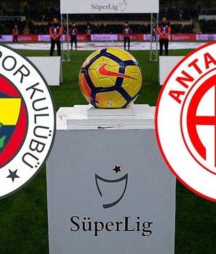 Fenerbahçe Antalyaspor maçı ne zaman saat kaçta? CANLI yayın bilgileri, ilk 11'ler, eksik oyuncular...