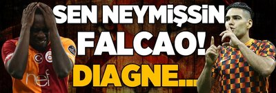 Sen neymişsin Falcao! Diagne...