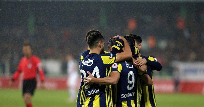 Giresunspor - Fenerbahçe maçından kareler