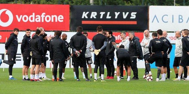 Beşiktaş'ta Göztepe hazırlıkları sürüyor
