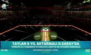 Taylan 6 yıl aktarmalı Galatasaray'da