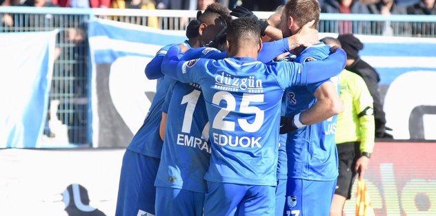 Erzurumspor'un 8 maçlık galibiyet hasretine son verdi